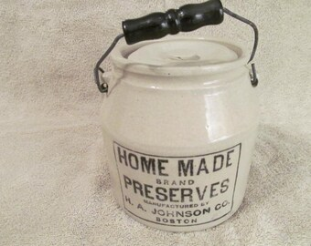 Stoneware Jam Jar