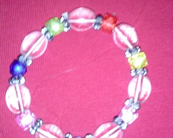 Hand Made Beaded Bracelet in a Rainbow of Colors*