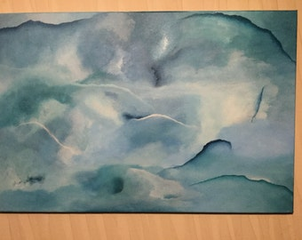 Tranquility, original abstract painting