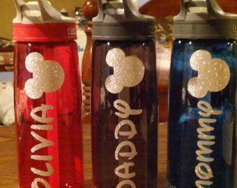 Disney Water Bottles/ Personalized Disney Water bottles/ Disney Water Bottle/ Disney Cups/ Disney Cup/ Disney Water Bottle Decals
