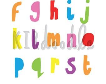 A4 Alphabet Print