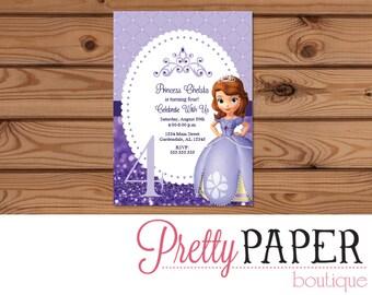 Sophia Birthday Invitation - Digital or Printed