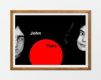 John Lennon & Yoko Ono Print Poster Art Home Decor