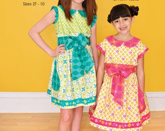 ModKid - Claudia - Paper Sewing Pattern for Girl's Dress