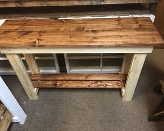 Brand new rustic sofa table
