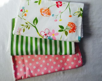 Spring Burp Cloths Set