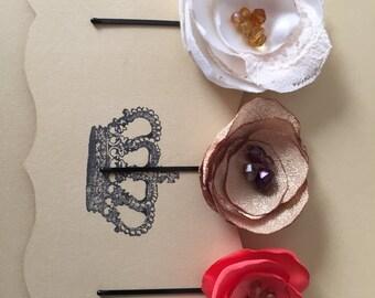 Handmade Flower Hairpins