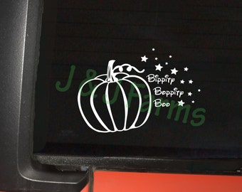 Bippity Boppity Boo - Pumpkin to Carriage Decal - Cinderella Carriage