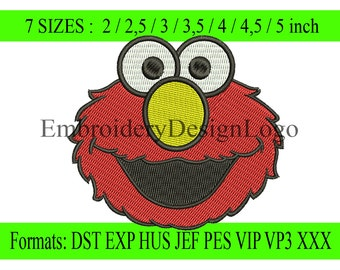 elmo embroidery design - Instant Download - INSTANT download machine embroidery pattern