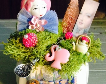 Miniature Marie Antoinette Fairy Garden One of A Kind