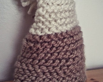 Earthy slouchy baby hat