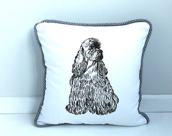 Pillow cover Genteel Spaniel