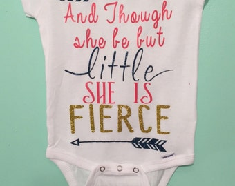 Little and Fierce quote shirt