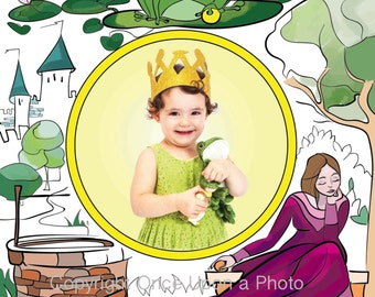Customised fairytale photo print- The Frog Prince