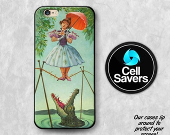 Haunted Mansion iPhone 6s Case iPhone 7 iPhone 6 Plus iPhone 6s + iPhone 5c iPhone 5 iPhone SE Stretching Room Painting Crocodile Umbrella