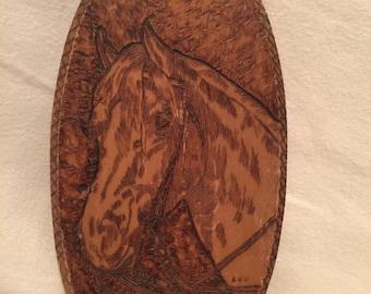 Handmade Wood burning Horse Sihlouette