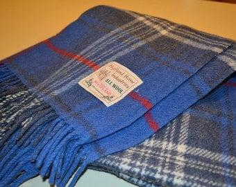 Vintage Highland Home Industires Wool Throw 55 x 58