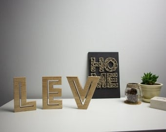 Letters (hollow) - any text or message according to your liking. Free shipping