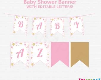 Baby Shower Banner Girl Etsy