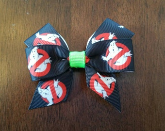 "3"" Ghost Busters Inspired Hair Bow"