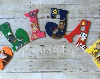 Paw Patrol Custom Hand Painted Letters