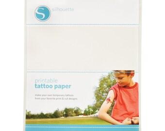 Silhouette tattoo printable paper NM-SILTAT