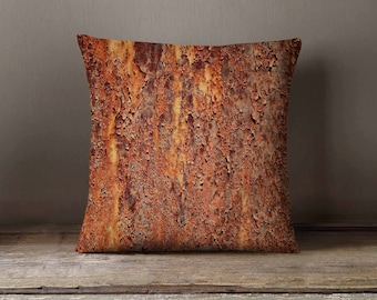 Rusty Metal Pillowcase | Decorative Throw Pillow Cover | Cushion Case | Designer Pillow Case | Birthday Gift Idea For Him & Her