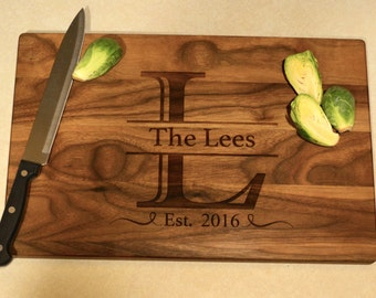 Custom Initial Cutting Board - Housewarming - Wedding Gift - Anniversary - Corporate Gift - Boss' Day - Retirement