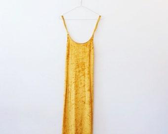 Vintage velvet hippie dress M