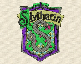 Slytherin Emblem Embroidery design 4 sizes