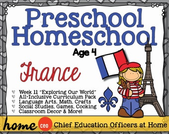 Preschool Homeschool France Unit
