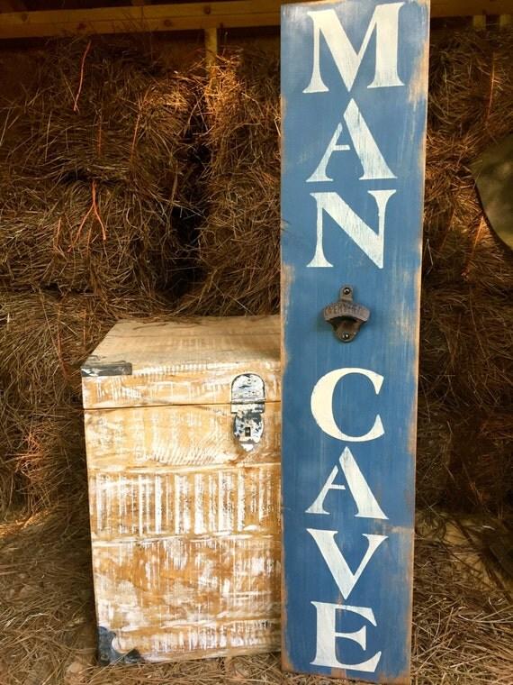 Rustic Man Cave Reviews : Man cave bottle opener feet vertical rustic wood sign