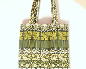 Retro Market Fabric Tote Bag / 70s / Shopper