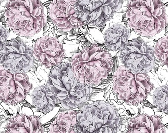 Peonies 3 Seamless Pattern Swatch