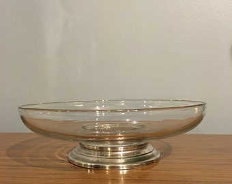 Vintage glass bowl/sterling silver base