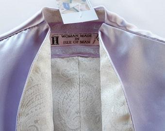 Lilac Satin with Paisley Bolero Jacket