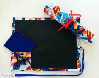Superman Chalkboard Mat