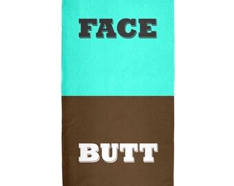Face Butt All Over Beach Towel
