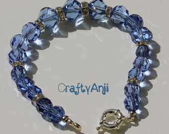 Bracelet - Light blue crystal
