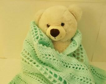 Light Teal Green Baby Blanket //  Lap Blanket