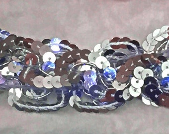Silver sequins head bands