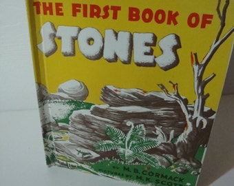 The First Book Of Stones by M.B. Cormack 1950 Hardcover Vintage Book for Kids