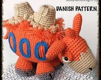 Camerupt Crochet Pattern PDF Danish Version/Camerupt Hækleopskrift PDF Dansk Version