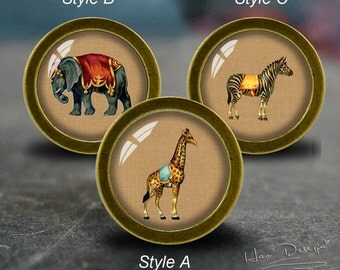Retro Animal  Drawer Knobs/ Handmade Vintage Bronze Dresser Knobs Cabinet  Dresser Knobs Pull