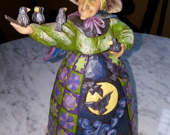 halloween witch  Jim shore  vintage halloween halloween witch