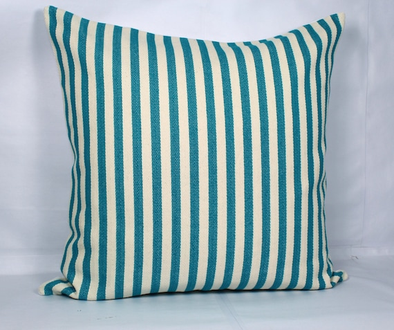 Https Www Etsy Com Listing 473857753 Teal Throw Pillows Stripe Teal Decor
