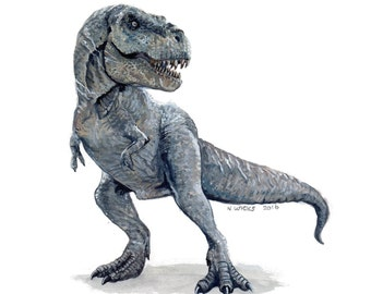Original Tyrannosaurus Rex Painting