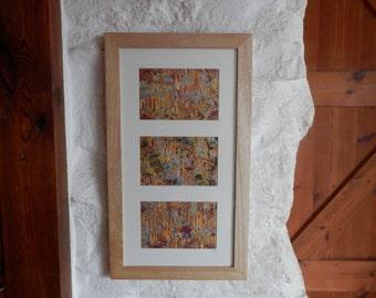 Abstract Painting, Original Artwork, Wall Art, Triptych , Metallic Wall Art