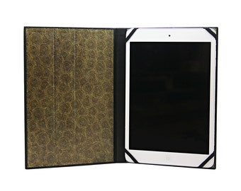 IPad Mini in black leather case