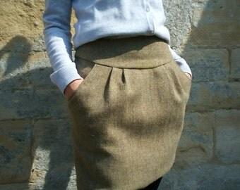 Harris tweed classic mini with pockets